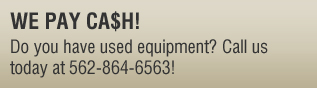 Cash for Used Equipment