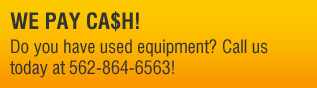 Cash for Used Equipment.